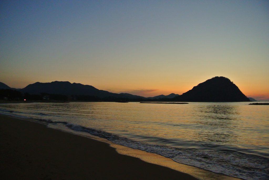 萩市菊が浜の夕日